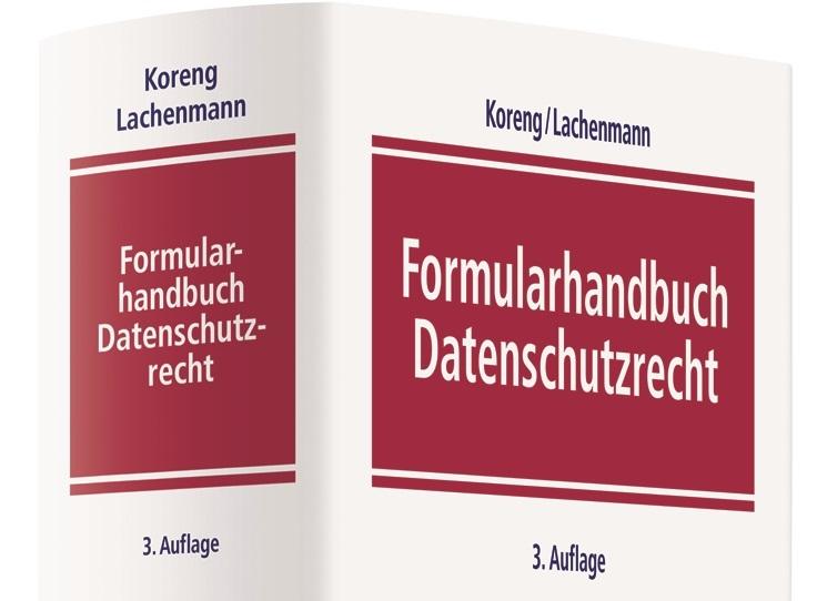 Formularhandbuch Datenschutzrecht erscheint in neuer Auflage mit Beiträgen von Stephan Schmidt